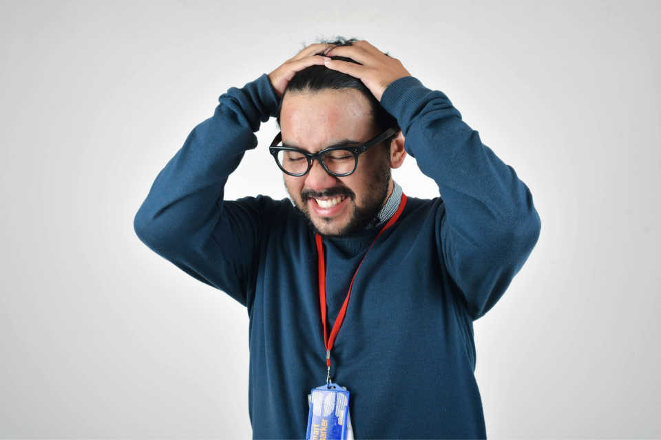 Bridging the soft skills gap - an accidental manager looking stressed