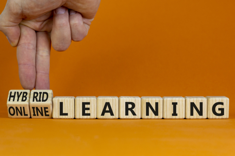 How do you choose the right channels for hybrid learning?