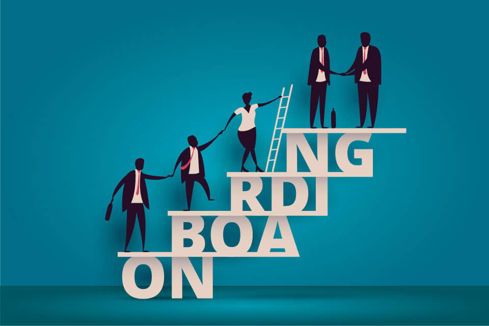 Onboarding new staff or reboarding